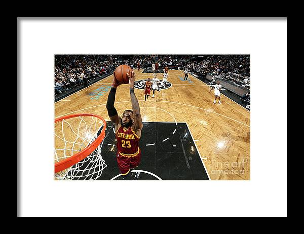Nba Pro Basketball Framed Print featuring the photograph Lebron James by Nathaniel S. Butler