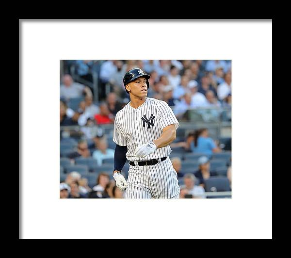 Three Quarter Length Framed Print featuring the photograph Aaron Judge by Elsa