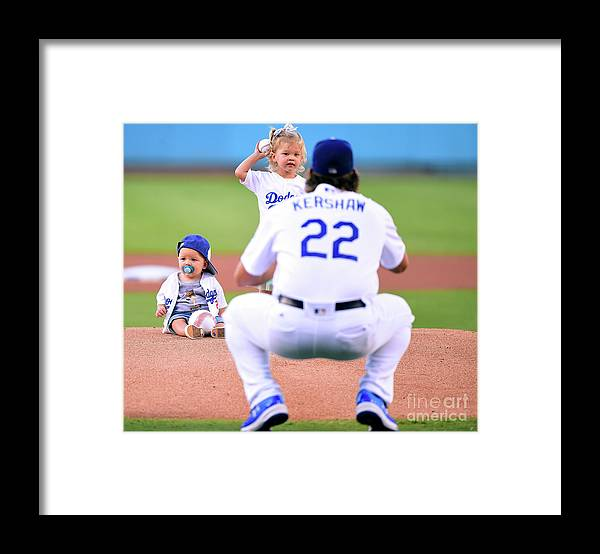 Child Framed Print featuring the photograph Clayton Kershaw by Harry How