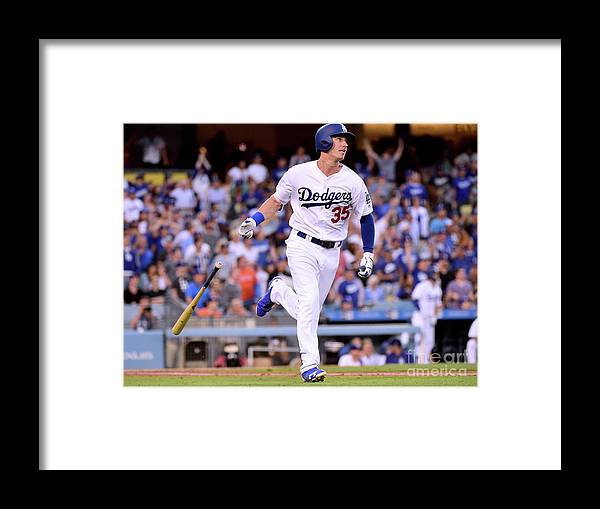 Second Inning Framed Print featuring the photograph Cody Bellinger by Harry How