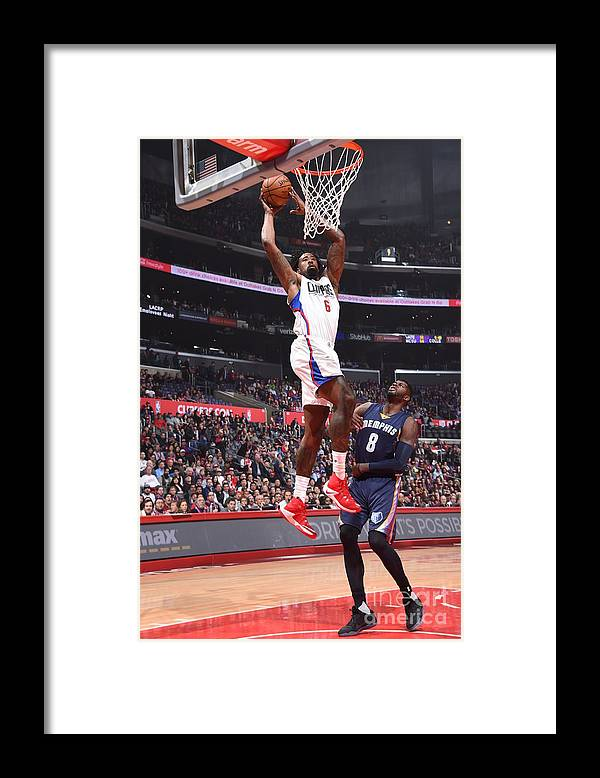 Nba Pro Basketball Framed Print featuring the photograph Deandre Jordan by Andrew D. Bernstein