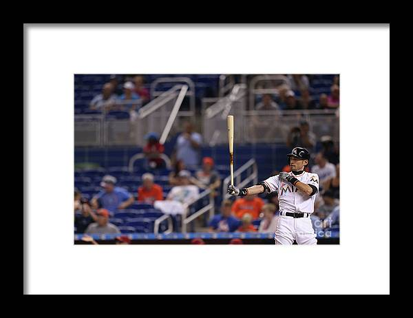 Three Quarter Length Framed Print featuring the photograph Ichiro Suzuki by Rob Foldy