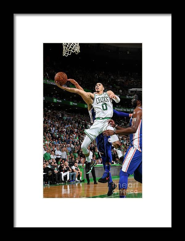 Playoffs Framed Print featuring the photograph Jayson Tatum by Brian Babineau