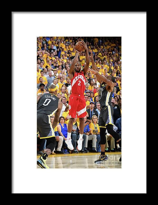 Playoffs Framed Print featuring the photograph Kawhi Leonard by Andrew D. Bernstein