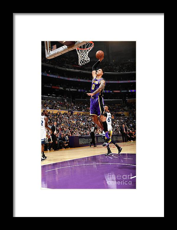 Nba Pro Basketball Framed Print featuring the photograph Kyle Kuzma by Andrew D. Bernstein