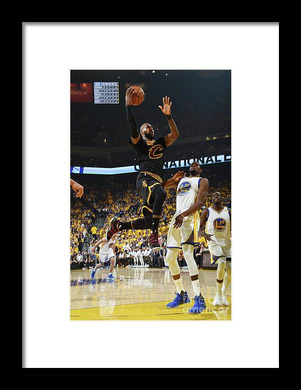 Playoffs Framed Print featuring the photograph Lebron James by Andrew D. Bernstein