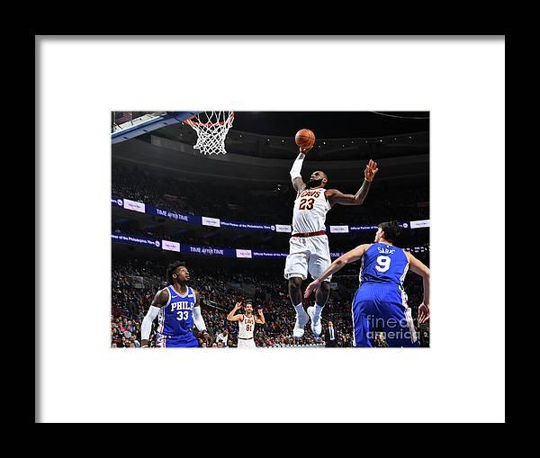 Nba Pro Basketball Framed Print featuring the photograph Lebron James by Jesse D. Garrabrant
