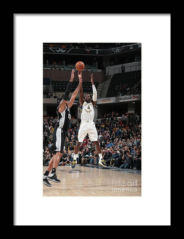 Nba Pro Basketball Framed Print featuring the photograph Victor Oladipo by Ron Hoskins