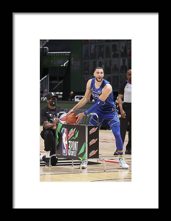 Atlanta Framed Print featuring the photograph Zach Lavine by Nathaniel S. Butler