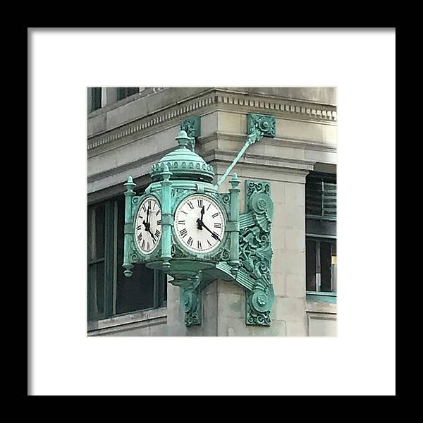 Photograph Framed Print featuring the photograph 1220 At Randolph Street by Richard Wetterauer