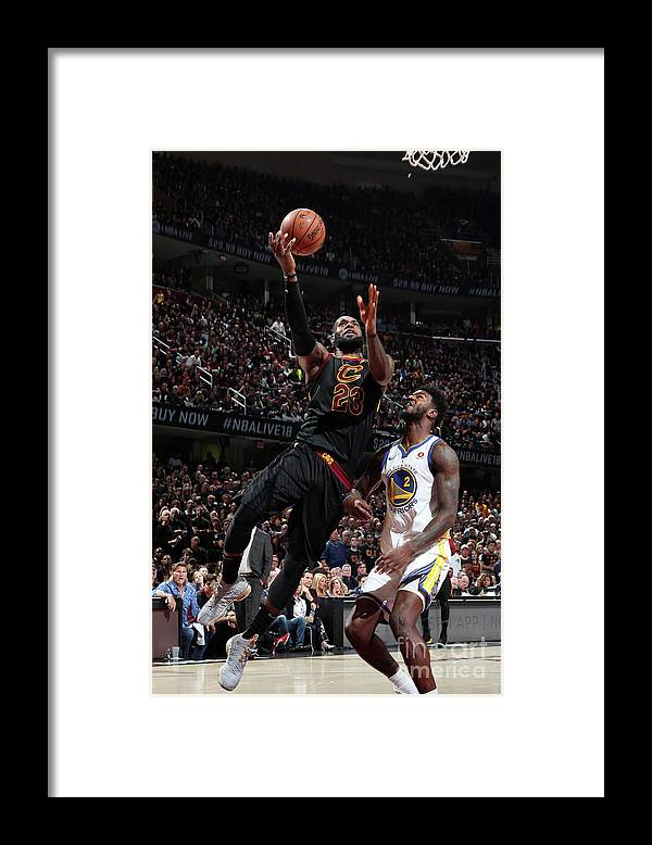 Playoffs Framed Print featuring the photograph Lebron James by Nathaniel S. Butler