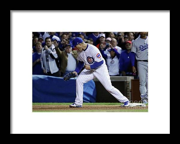 Championship Framed Print featuring the photograph Anthony Rizzo by Jonathan Daniel