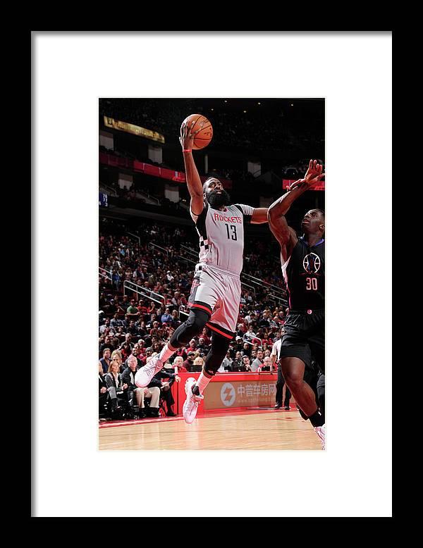 Nba Pro Basketball Framed Print featuring the photograph James Harden by Bill Baptist