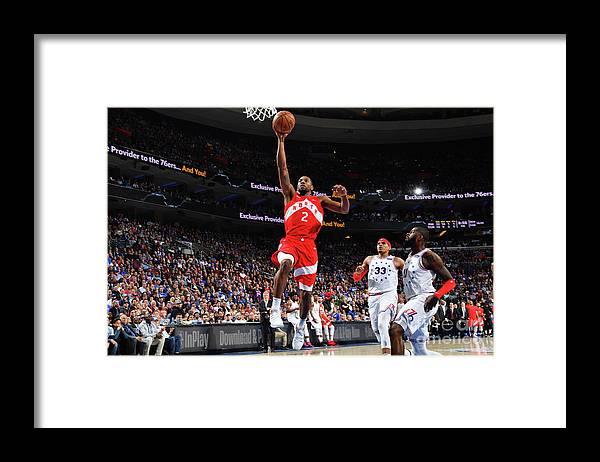 Nba Pro Basketball Framed Print featuring the photograph Kawhi Leonard by Jesse D. Garrabrant