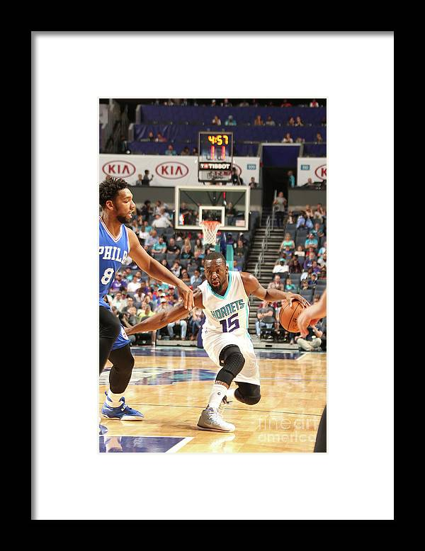 Sport Framed Print featuring the photograph Kemba Walker by Kent Smith