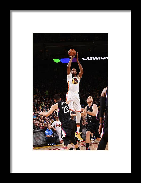 Nba Pro Basketball Framed Print featuring the photograph Kevin Durant by Noah Graham
