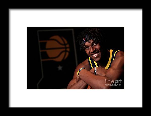 Media Day Framed Print featuring the photograph Myles Turner by Ron Hoskins