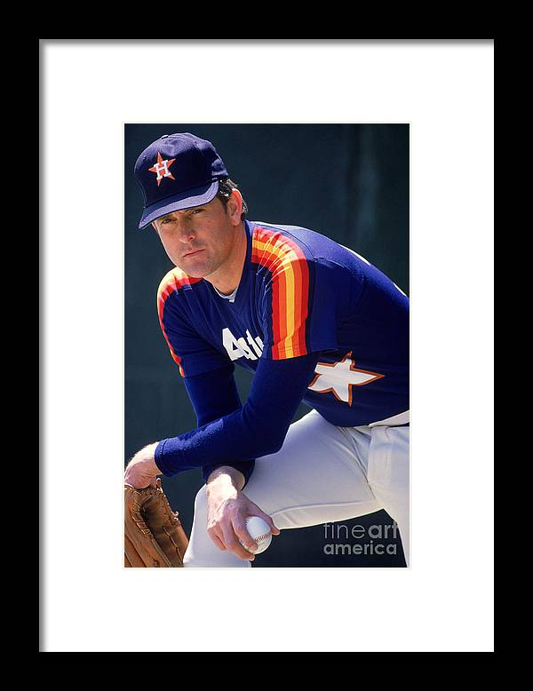 1980-1989 Framed Print featuring the photograph Nolan Ryan by Rich Pilling