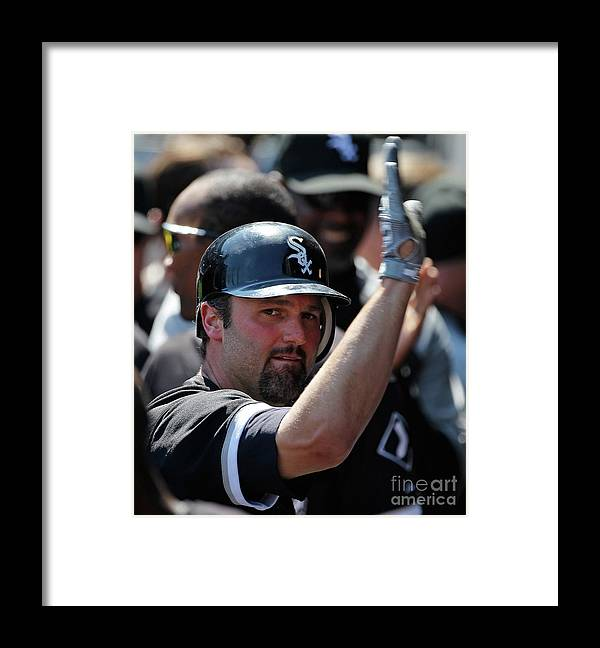 People Framed Print featuring the photograph Paul Konerko by Jonathan Daniel