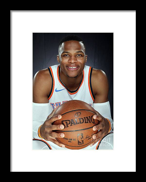 Media Day Framed Print featuring the photograph Russell Westbrook by Layne Murdoch