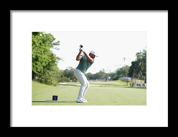 People Framed Print featuring the photograph THE PLAYERS Championship - Round One by Richard Heathcote