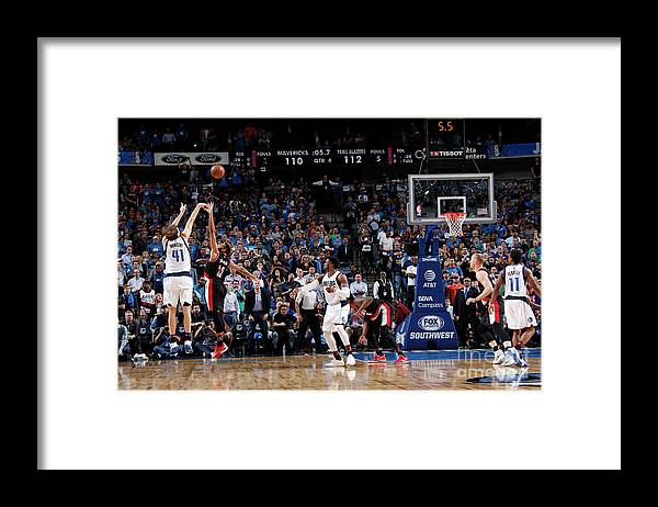 Nba Pro Basketball Framed Print featuring the photograph Dirk Nowitzki by Glenn James