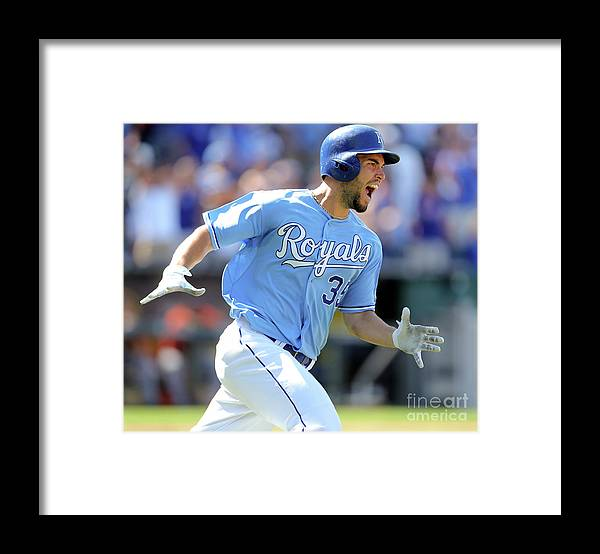 American League Baseball Framed Print featuring the photograph Eric Hosmer by Ed Zurga