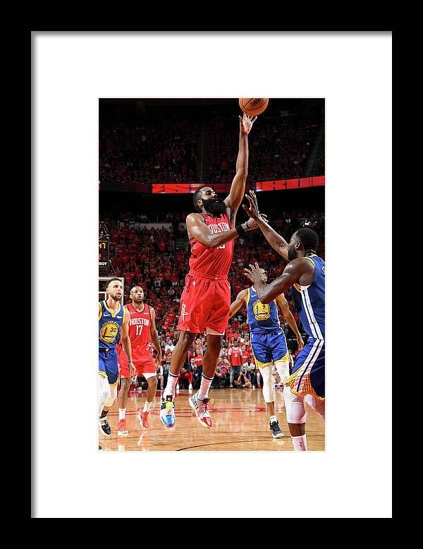 Playoffs Framed Print featuring the photograph James Harden by Andrew D. Bernstein