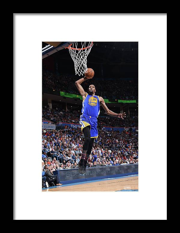 Nba Pro Basketball Framed Print featuring the photograph Kevin Durant by Andrew D. Bernstein