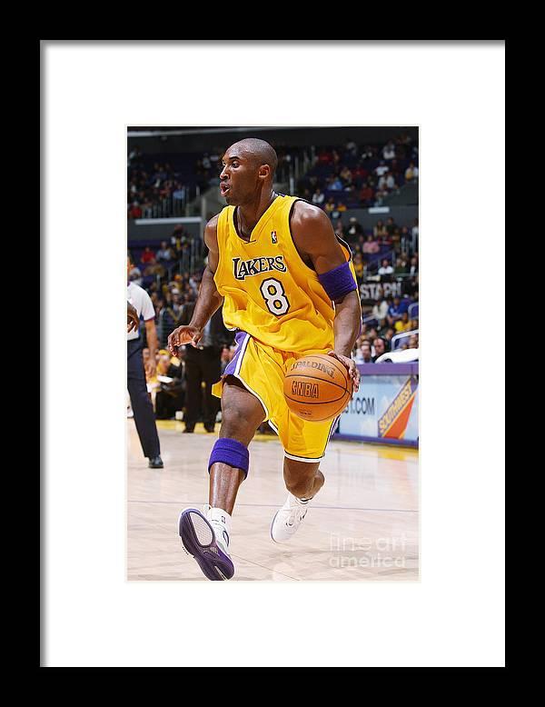 Nba Pro Basketball Framed Print featuring the photograph Kobe Bryant by Noah Graham