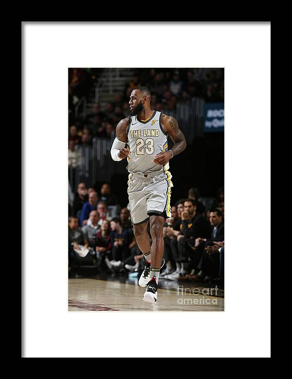 Nba Pro Basketball Framed Print featuring the photograph Lebron James by Joe Murphy