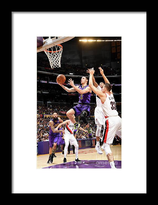 Nba Pro Basketball Framed Print featuring the photograph Lonzo Ball by Andrew D. Bernstein