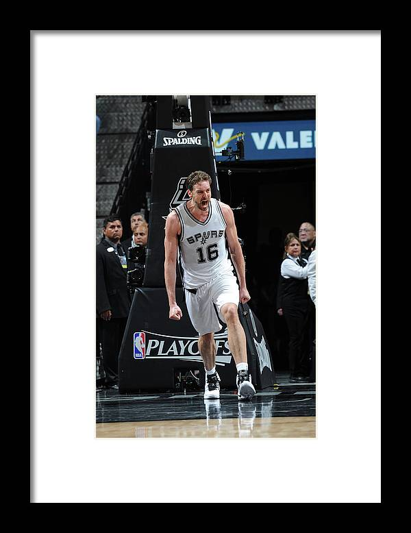 Game Two Framed Print featuring the photograph Pau Gasol by Mark Sobhani