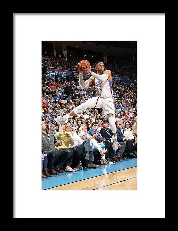 Sports Ball Framed Print featuring the photograph Russell Westbrook by Layne Murdoch