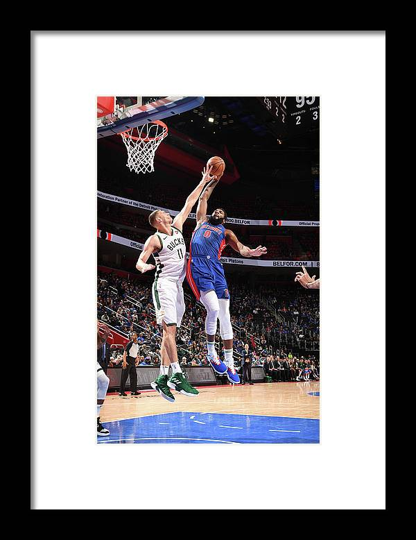 Playoffs Framed Print featuring the photograph Andre Drummond by Chris Schwegler