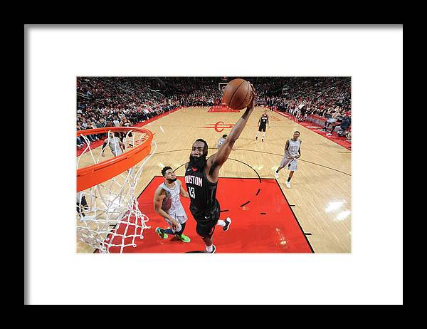 Playoffs Framed Print featuring the photograph James Harden by Bill Baptist