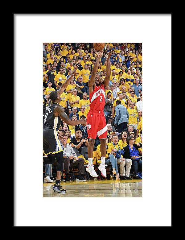 Playoffs Framed Print featuring the photograph Kawhi Leonard by Andrew D. Bernstein