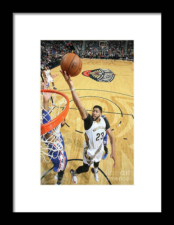 Smoothie King Center Framed Print featuring the photograph Anthony Davis by Layne Murdoch