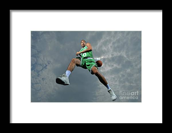 Nba Pro Basketball Framed Print featuring the photograph Jayson Tatum by Jesse D. Garrabrant