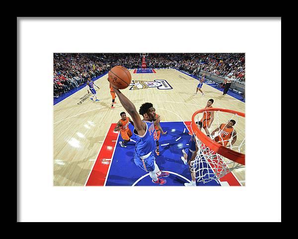 Nba Pro Basketball Framed Print featuring the photograph Joel Embiid by Jesse D. Garrabrant