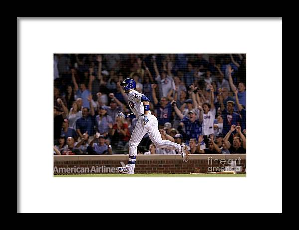 People Framed Print featuring the photograph Kris Bryant by Dylan Buell