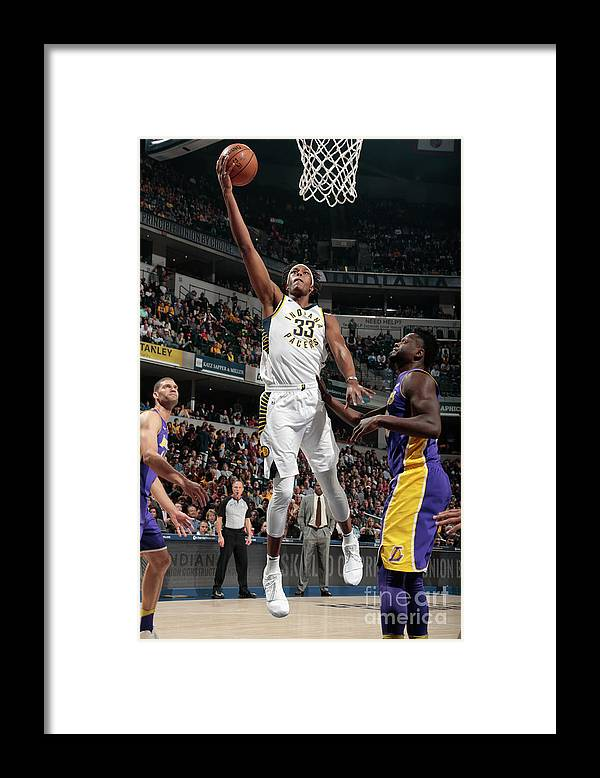 Sports Ball Framed Print featuring the photograph Myles Turner by Ron Hoskins