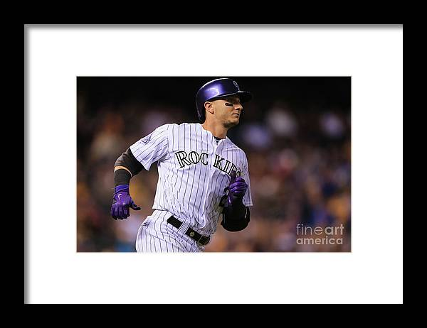 National League Baseball Framed Print featuring the photograph Troy Tulowitzki by Doug Pensinger