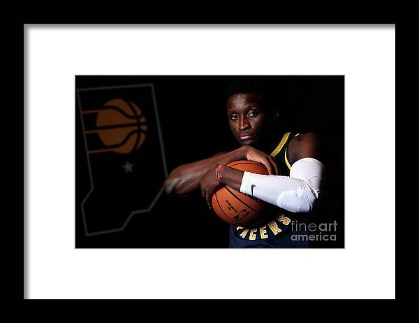 Media Day Framed Print featuring the photograph Victor Oladipo by Ron Hoskins