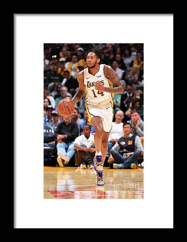 Nba Pro Basketball Framed Print featuring the photograph Brandon Ingram by Andrew D. Bernstein