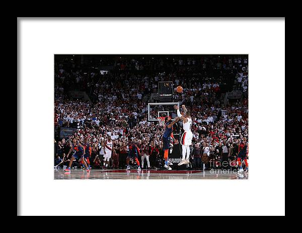 Playoffs Framed Print featuring the photograph Damian Lillard by Sam Forencich