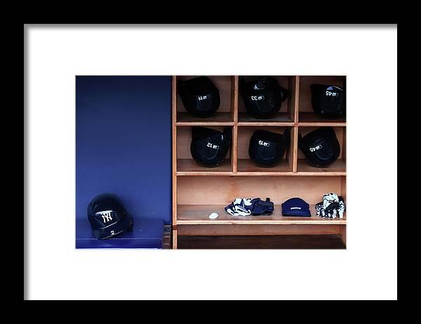 Headwear Framed Print featuring the photograph Derek Jeter by Elsa