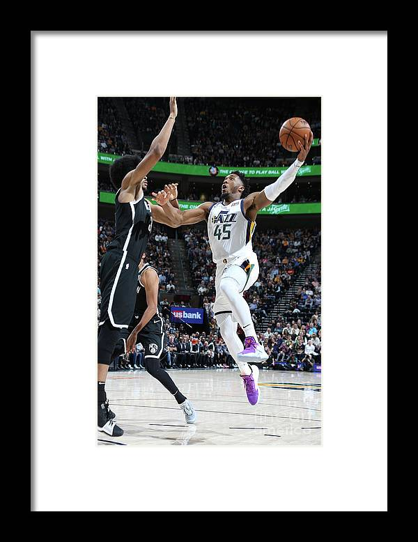 Nba Pro Basketball Framed Print featuring the photograph Donovan Mitchell by Melissa Majchrzak