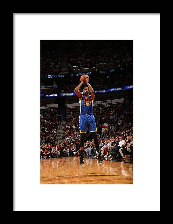 Smoothie King Center Framed Print featuring the photograph Kevin Durant by Layne Murdoch