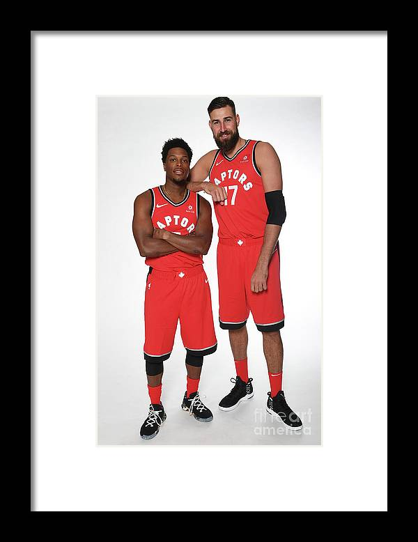 Media Day Framed Print featuring the photograph Kyle Lowry by Ron Turenne